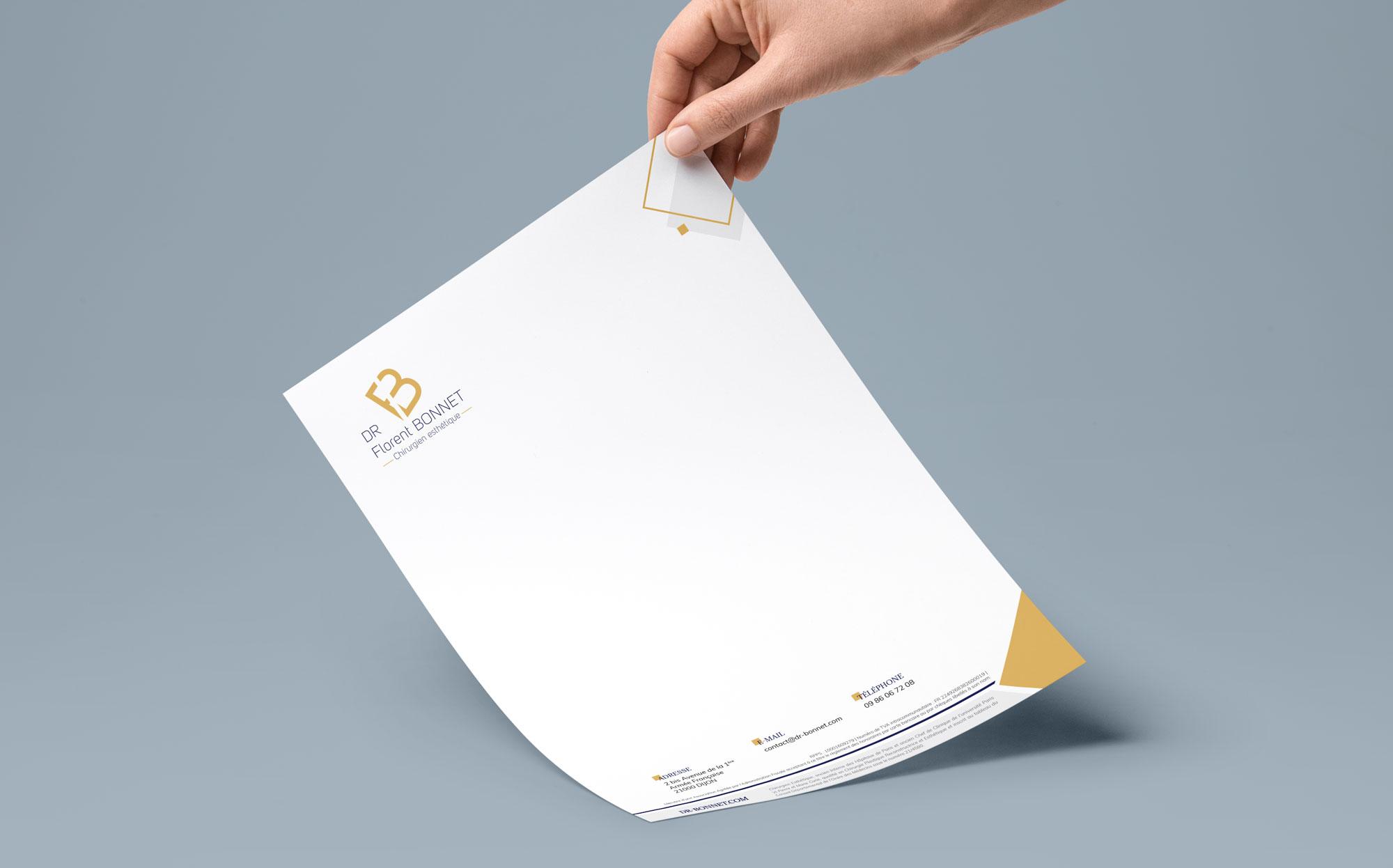 eclolink-agence-web-marketing-dijon-reference-client-dr-bonnet-mockup-a4-papier-en-tete
