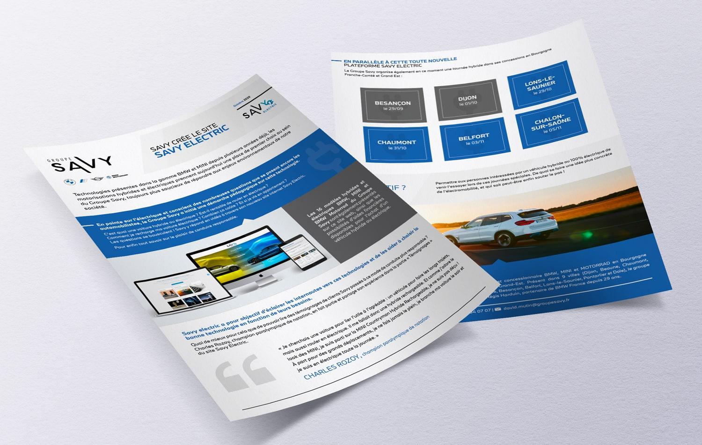 eclolink-agence-web-marketing-dijon-reference-client-groupe-savy-mockup-communique-presse-savy-electrique
